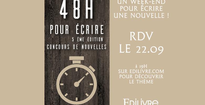 Concours «48 heures pour écrire» le 22 septembre